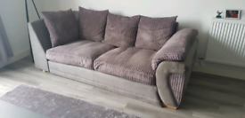 Grey cord couch