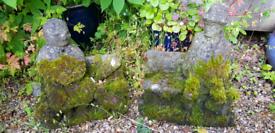Stone/Concrete Garden Statues - Grandma & Grandpa