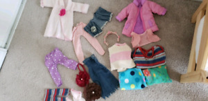 18' dolls with clothes,shoes and bed