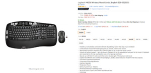 LOGITECH COMFORT WAVE WIRELESS KEYBOARD AND MOUSE COMBO