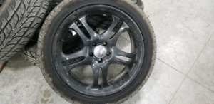 "20""Boss motorsports wheels with almost brand new 255/45r20 tires"