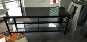 Ikea Tv stand bench media unit glass gettorp black