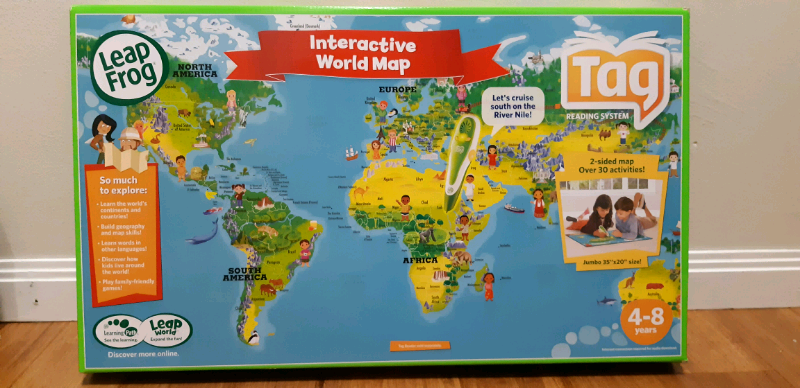 Leap Frog Tag Interactive World Map Toys Indoor Gumtree