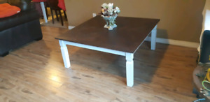 Large solid wood coffee table refurbished
