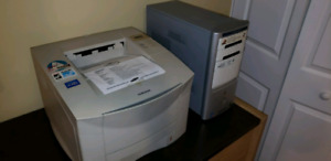 Computer and printer for sale