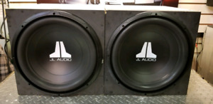 """2 JL AUDIO 15"""" SUBS IN BOXES"""