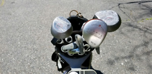 Golf Clubs, Bag and Cart.