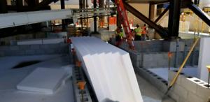 Rigid insulation geo foam ampex panels