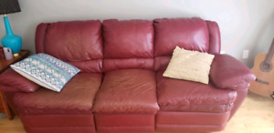 Leather Recliner Love Seat and Couch