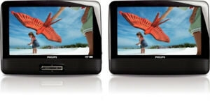 Philips PD9012/37 9 -Inch LCD Dual Screens Portable DVD Player (