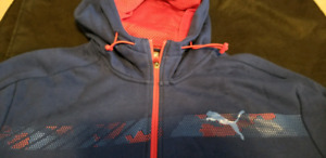 NEW PUMA WINTER JACKET WITH HOODIE IN SIZE XL. BLUE &RED COLOR for sale  Markham / York Region