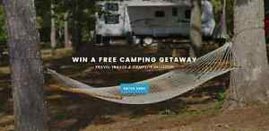 Win a Free Camping Getaway ~ Travel Trailer & Campsite Included