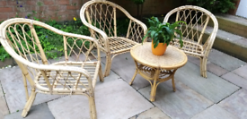 Boho chairsx3 and a coffee table( priced individually)