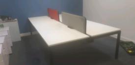 Executive white bench desking