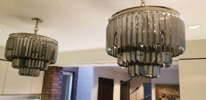 Pair of Hollywood Glam Chandeliers