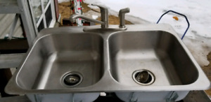 Kitchen sink and taps