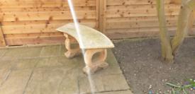 Stone Garden Bench