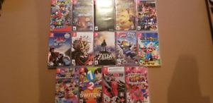 Switch Games Collection: Zelda Mario Minecraft Dragonball Skyrim