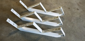 2-step white aluminum stair risers