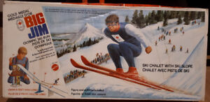 BIG JIM 1974 Canadian Olympic Ski Run set MIB!!!