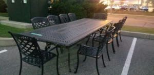 Dining sets, tent sale