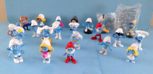 SCHTROUMPFS, LOT DE FIGURINES MC DO, SMURFS