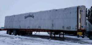 48 foot Curtin side Highboy for sale and storage trailers