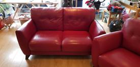 Violino Leather 2 seat Sofa & Chair