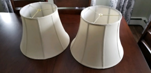 2 English Butler Lamp Shades