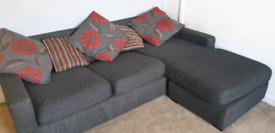 Grey + Red 3 Seater Sofa *PENDING*