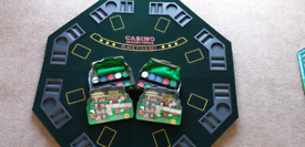 Folding Poker Table Top Octagon Layout