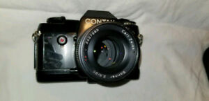 Contax film camera with flash and Zeiss lens