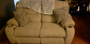 High quality recliner loveseat and chair