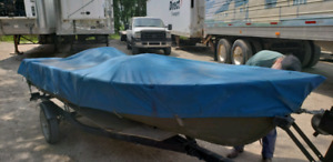 14 foot boat motor and trailer for $1365.00 taxs in