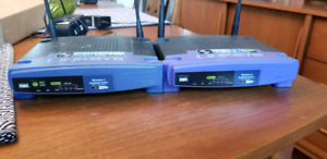 2 Linksys WRT54 Wireless Routers Compatible with  DD-WRT