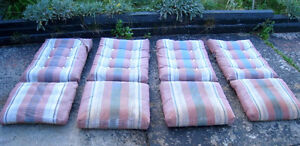 4 Patio Chair 2-side Waterproof Cushions(Plastic)