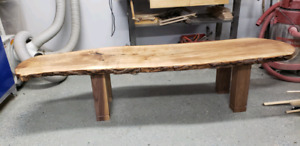 7ft live edge coffee table