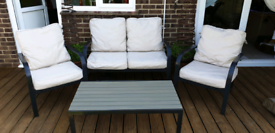 Garden 4 Seater Sofa Set with Table