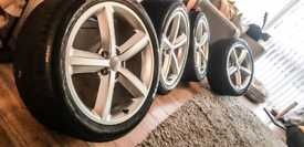 """18"""" Genuine Audi Alloy Wheels and Tyres x4 A4 A5 A3"""