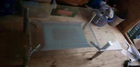 Glass tea table