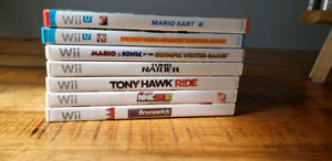 Wii u and Wii games for sale