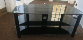 FREE Large glass tv stand