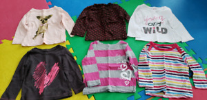 Girls shirts, pants and skirt (size 12 months)