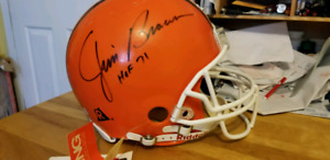 Nfl helmet signed by jim brown