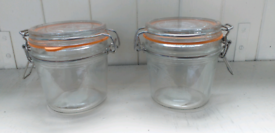 Glass Jar x 2