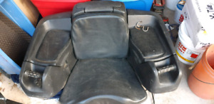 ATV seat with heated hand grips