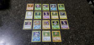 Pokemon Cards - HOLOS + RARES - WOTC