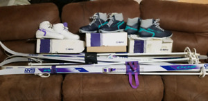 Skis, boots & poles