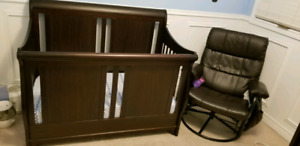Crib with changing table/dresser