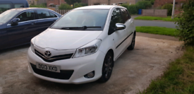 2013 Toyota Yaris 1.33 VVT- i Trend 5dr Hatchback Petrol Manual White